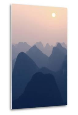 China 10MKm2 Collection - Karst Mountains at Pastel Sunset - Yangshuo by Philippe Hugonnard