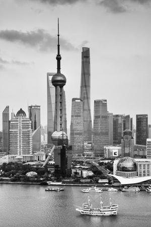 China 10MKm2 Collection - Shanghai Skyline with Oriental Pearl Tower by Philippe Hugonnard