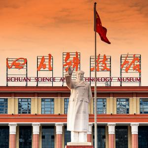 China 10MKm2 Collection - Statue of Mao Zedong by Philippe Hugonnard