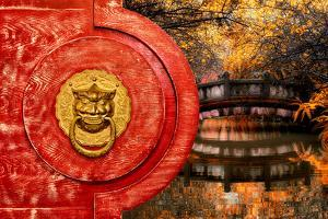 China 10MKm2 Collection - The Door God - Autumn Bridge by Philippe Hugonnard