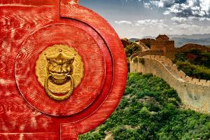 China 10MKm2 Collection - The Door God - Great Wall of China by Philippe Hugonnard