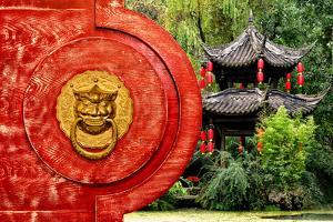 China 10MKm2 Collection - The Door God - Green Temple by Philippe Hugonnard