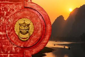 China 10MKm2 Collection - The Door God - Li river at Sunsrise by Philippe Hugonnard