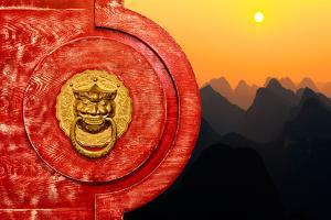 China 10MKm2 Collection - The Door God - Sunset Karts Peaks by Philippe Hugonnard