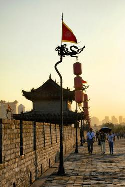 China 10MKm2 Collection - Walk on the City Walls at sunset - Xi'an City by Philippe Hugonnard