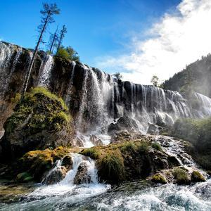 China 10MKm2 Collection - Waterfalls in the Jiuzhaigou National Park by Philippe Hugonnard