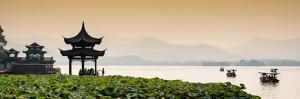 China 10MKm2 Collection - West Lake at sunset by Philippe Hugonnard