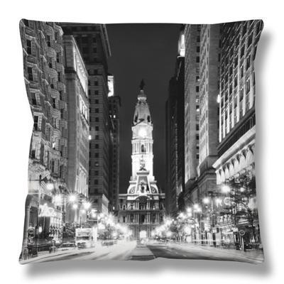 City Hall and Avenue of the Arts by Night, Philadelphia, Pennsylvania, US by Philippe Hugonnard