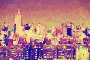 City of New York II - In the Style of Oil Painting by Philippe Hugonnard