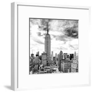 Cityscape Manhattan, Black and White Photography, Empire State Building, Urban Landscape, New York by Philippe Hugonnard