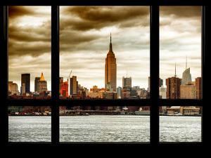 Cityscape Midtown Manhattan with the Empire State Building at Sunset by Philippe Hugonnard