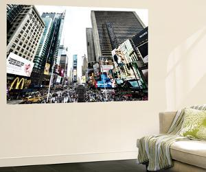 Cityscape of Times Square, NYC, Skyscrapers View, Landscape of Times Square, Manhattan, New York by Philippe Hugonnard