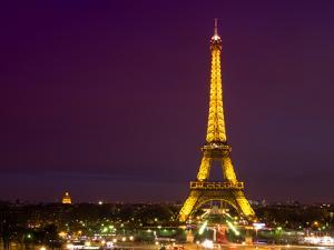 Cityscape Paris with Eiffel Tower at Night by Philippe Hugonnard