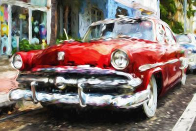 Classic American Car - In the Style of Oil Painting by Philippe Hugonnard
