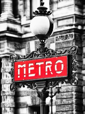 Classic Art, Metro Sign at the Louvre Metro Station, Paris, France by Philippe Hugonnard