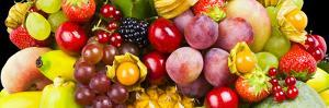 Close up of Fresh Fruits - Fruit assortments - Fruits and Vegetables by Philippe Hugonnard