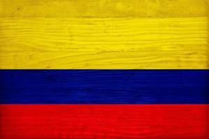 Colombia Flag Design with Wood Patterning - Flags of the World Series by Philippe Hugonnard