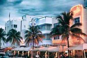 Colorful Ocean Drive - South Beach - Miami Beach Art Deco Distric - Florida by Philippe Hugonnard