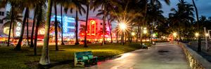 Colorful Street Life - Ocean Drive by Night - Miami by Philippe Hugonnard
