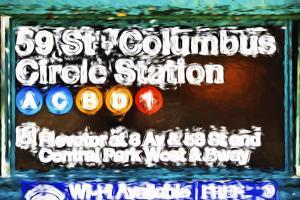 Columbus Circle Station - In the Style of Oil Painting by Philippe Hugonnard