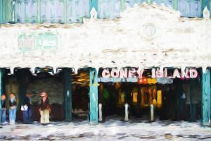 Coney Island Subway - In the Style of Oil Painting by Philippe Hugonnard