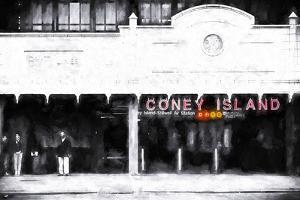 Coney Island Subway Station by Philippe Hugonnard