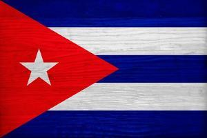 Cuba Flag Design with Wood Patterning - Flags of the World Series by Philippe Hugonnard