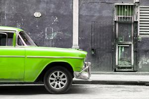 Cuba Fuerte Collection - 615 Street and Green Car by Philippe Hugonnard