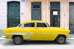 Cuba Fuerte Collection - 66 Street Havana Yellow Car by Philippe Hugonnard