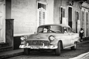 Cuba Fuerte Collection B&W - Chevy Classic Car in Trinidad by Philippe Hugonnard