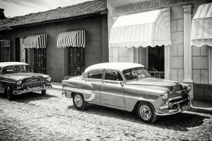 Cuba Fuerte Collection B&W - Classic American Cars by Philippe Hugonnard