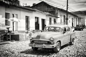 Cuba Fuerte Collection B&W - Cuban Taxi in Trinidad II by Philippe Hugonnard