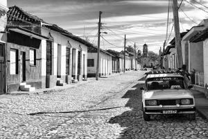 Cuba Fuerte Collection B&W - Lada Taxi in Trinidad II by Philippe Hugonnard