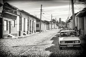 Cuba Fuerte Collection B&W - Lada Taxi in Trinidad by Philippe Hugonnard