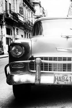 Cuba Fuerte Collection B&W - Old Chevrolet in Havana V by Philippe Hugonnard