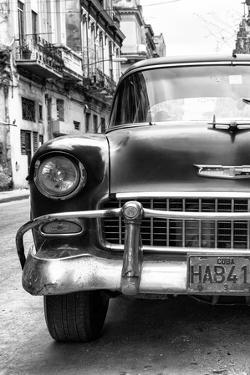 Cuba Fuerte Collection B&W - Old Chevrolet in Havana VI by Philippe Hugonnard