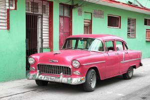 Cuba Fuerte Collection - Beautiful Classic American Pink Car by Philippe Hugonnard