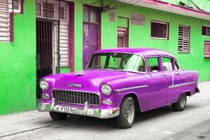 Cuba Fuerte Collection - Beautiful Classic American Purple Car by Philippe Hugonnard