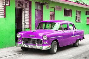 Cuba Fuerte Collection - Beautiful Classic American Purple Car by Philippe Hugonnard