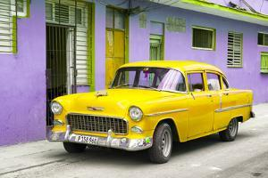 Cuba Fuerte Collection - Beautiful Classic American Yellow Car by Philippe Hugonnard