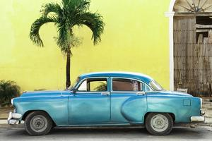Cuba Fuerte Collection - Beautiful Retro Blue Car by Philippe Hugonnard