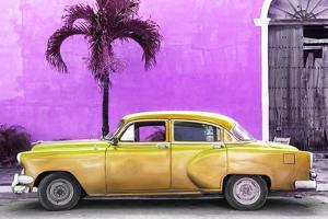 Cuba Fuerte Collection - Beautiful Retro Golden Car by Philippe Hugonnard