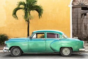 Cuba Fuerte Collection - Beautiful Retro Green Car by Philippe Hugonnard