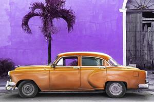 Cuba Fuerte Collection - Beautiful Retro Orange Car by Philippe Hugonnard