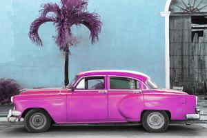 Cuba Fuerte Collection - Beautiful Retro Pink Car by Philippe Hugonnard