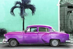Cuba Fuerte Collection - Beautiful Retro Purple Car by Philippe Hugonnard