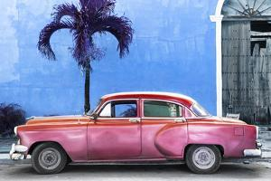 Cuba Fuerte Collection - Beautiful Retro Red Car by Philippe Hugonnard