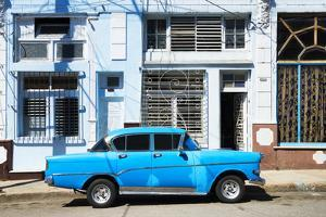 Cuba Fuerte Collection - Blue Car by Philippe Hugonnard