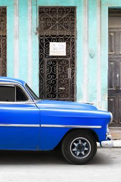 Cuba Fuerte Collection - Blue Classic Car by Philippe Hugonnard