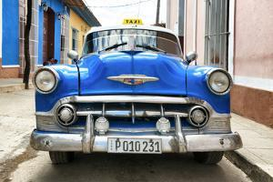 Cuba Fuerte Collection - Blue Cuban Taxi II by Philippe Hugonnard